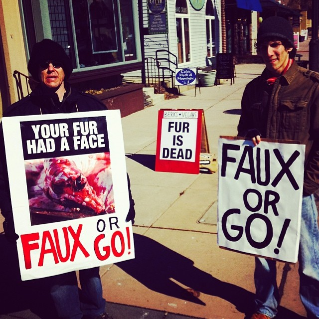CANCELLED: Faux or go! Join us at Pollack Furs on Friday.